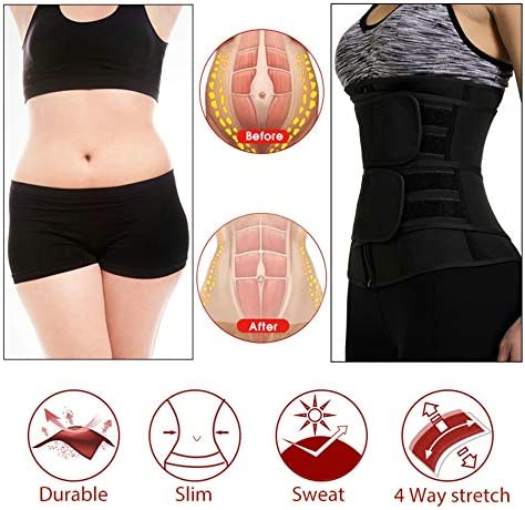 DEYACE Waist Trainer for Women Weight Loss Everyday Wear Neoprene Sweat Belt Waist Trimmer Plus Size 4