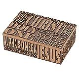 Dicksons Names of Jesus Antique Bronze Look Finish 4 x 6 Resin Embossed Keepsake Decorative Box