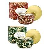 LA JOLIE MUSE Scented Candles Set 2 Fir Cedarwood & Cinnamon Pumpkin, 13oz Natural Soy Wax, Winter Gift Collection