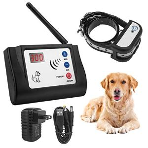 Beinhome Wireless Electric Dog Fence Electronic Outdoor Wireless Fence System for 1 Dog Rechargeable Receiver Collar
