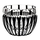 [LIMITED STOCK] Crystal Edo Kiriko Guinomi Sake Cup Design Cut Glass Simply Arc - Black [Japanese Crafts Sakura]