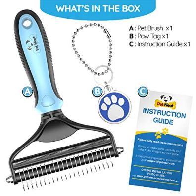Dog-Brush-and-Cat-Brush--2-Sided-Pet-Grooming-Tool-for-Deshedding-Mats-Tangles-Removing--No-More-Nasty-Shedding-and-Flying-Hair