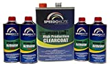 SpeedoKote SMR-135/75-K-M - Automotive Clear Coat Very Fast Dry 2K Urethane, 3:1 mix Gallon Clearcoat Kit w/Medium Act.