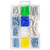 HangDone Drywall and Wall Anchor Kit 150-Pieces, Assorted Sizes with Screws