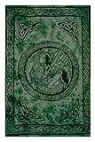 Sarong, Celtic - Dragon and Maiden, Green Shade Will Vary