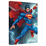 Superman Super Lightning Officially Licensed Canvas Wall Art