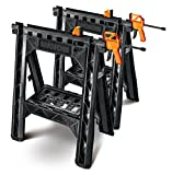 WORX Clamping Sawhorse Pair with...
