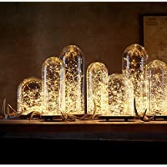 [10-PACK] LED String Lights, LED Moon Lights 20 Led Micro Lights On Silver Copper Wire (Batteries Include) For DIY Wedding Centerpiece, Table Decoration, Party (warm white)