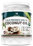 Hamilton Healthcare Organic Extra Virgin Cold Pressed Coconut Oil Pure & Unrefined - 16 Ounce (1 lb)