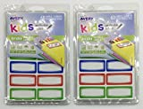 2 Pack Avery 0.75 x 1.75 Inches Kids Durable Labels, Assorted, 120 Labels (41441)
