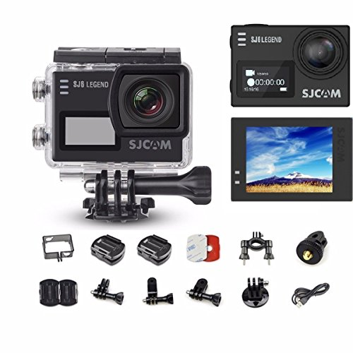 "SJCAM Legend SJ6 Action Camera with 2"" Dual LCD Touch Screen, 1080p Resolution, Black"