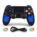 PS4 Controller Wireless Joysticks - Dual Shock 4 Game Remote,Bluetooth DS4 Gamepad,Support Playstation 4,Pro/Slim PS4,PC,PS TVs,Smart TV(Blue Diamond)
