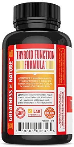 Zhou Nutrition Thyroid Support Complex with Iodine - Energy, Metabolism & Focus Formula - Vegetarian, Soy & Gluten Free - 'Feel Like Your Old Self Again' 4