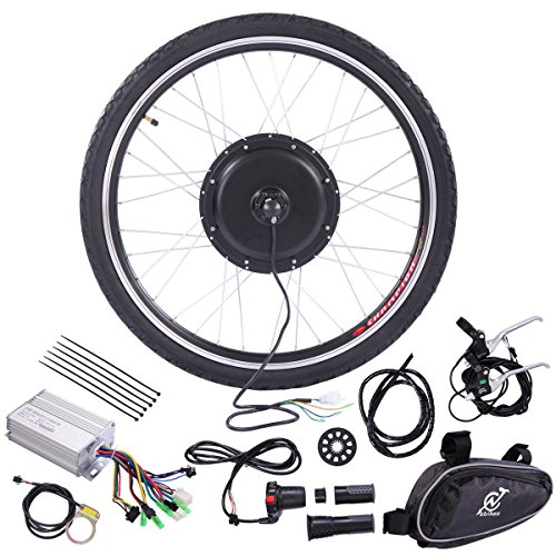 "JAXPETY 36V Rear Wheel Electric Bicycle Motor Conversion hub Kit 500W 26"" Ebike Cycling"