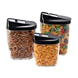 Airtight Food Storage Kitchen and Pantry Containers, BPA Free, Set of 3