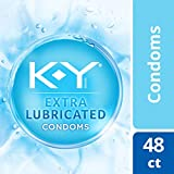 Condoms, K-Y Me & You Extra Lubricated Ultra Thin Latex Condoms. Extra Lubricated For Her & Natural Fit for Him for Comfort & Smoothness, 48 Cnt. Latex Condom with Water-Based Lubricant. HSA Eligible