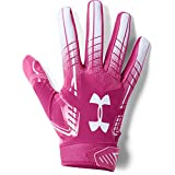 Under Armour Men's F6 Football Gloves, Tropic Pink (654)/White, Large