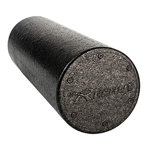REEHUT Foam Roller - (6'x12' Round) Firm High Density Muscle Rollers with Free User E-Book