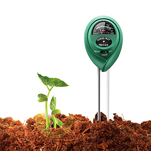 COVERY 3 in 1 Soil Tester Moisture Meter, Light and PH acidity Tester, Plant Tester for Garden, Farm, Lawn, Indoor & Outdoor (No Battery needed) Easy Read Indicator