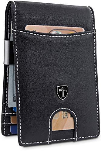 TRAVANDO Money Clip Wallet'RIO' Mens Wallet Front Pocket Wallet Slim Wallet RFID Blocking | Credit Card Holder | Minimalist Mini Bifold Gifts for Men