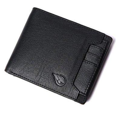 RUGE Genuine Leather RFID Blocking Black Colour Wallet for Men 21