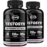 Testosyn (2 Pack) - High Performance Testosterone Booster Supplement, 180 Count