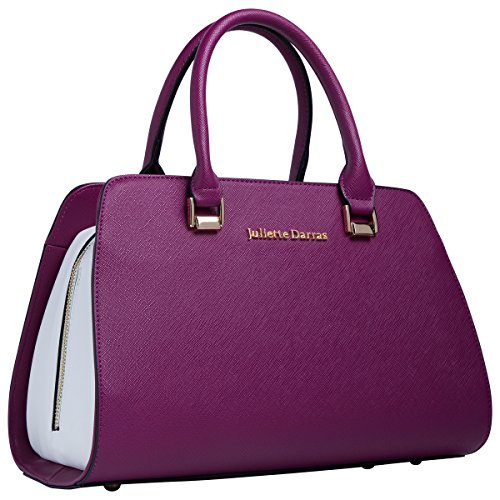 Juliette Darras Insulated Lunch Bag for Women - Elegant, Multifunctional Lunch Tote Purse for Women (Fuchsia)