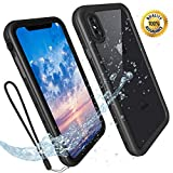 Transy Waterproof iPhone Xs Max Case - Xs Max Full Body Case Apple iPhone Underwater Full Sealed Phone Case for Xs Max Built in Screen Protector Cover Shell for Men Women