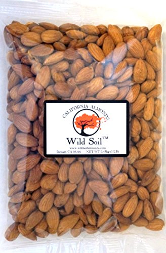 Wild Soil Almonds - Distinct and Superior to Organic, Steam Pasteurized, Probiotic, Raw 1LB Bag