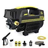 LVYUAN Pressure Washer Power Pressure Cleaner 1200 PSI 1500W Electric BRUSHLESS Technology  Ultra Low Sound   Pure Copper Motor  Power Efficient   Super Lightweight for Vehicle, Home, Garden, Barbecue