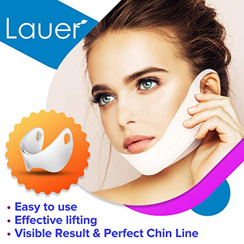 V Shaped Slimming Face Mask Double Chin Reducer V Line Lifting Mask Neck Lift Tape Face Slimmer Patch For Firming and Tightening Skin 2