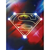 """Westland Giftware Lighted Canvas Wall Art, Superman Shield, 12 by 16"""""""
