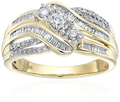 51P4LvOi7YL Bypass Ring  1/2cttw in 10K Yellow Gold All our diamond suppliers confirm that they comply with the Kimberley Process to ensure that their diamonds are conflict free