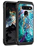 BENTOBEN Case for LG G8 ThinQ/LG G8, Shockproof Glow in The Dark Luminous 2 in 1 Hard PC Soft TPU Bumper Non-Slip Protective Phone Case Cover for LG G8 Thin Q/LG G8 2019 Release, Mandala in Galaxy