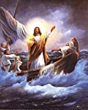 Jesus Christ Calming the Sea Femrite Religious and Spiritual Art Print Poster (16x20)