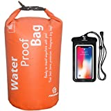 Freegrace Waterproof Dry Bag - Lightweight Dry Sack with Seals and Waterproof Case -Float on Water -Keeps Gear Dry for Kayaking, Beach, Rafting, Boating, Hiking, Camping and Fishing (10L, Orange)