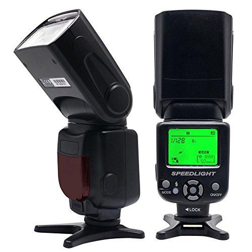 Venidice VD-930 Manual Professional Universal speedlite for Canon Nikon Panasonic Olympus Fujifilm Pentax and Other DSLR Digital SLR Film Cameras With Standard Hot Shoe …