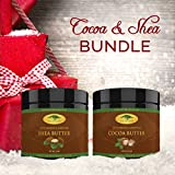 Body Butter Bundle - 16 oz Cocoa Butter & 16 oz Shea Butter with RECIPE EBOOK - Organic Body Butters for All Your DIY Home Recipes Like Soap Making, Lotion, Shampoo, Lip Balm & Hand Cream