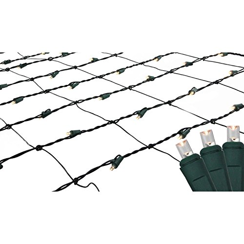 4' x 6' Warm White LED Wide Angle Christmas Net Lights - Green Wire