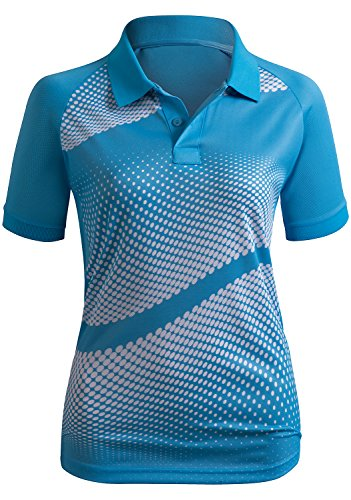 CLOVERY Women's Active Wear POLO Shirt Short Sleeve Dot Pattern 15 Fashion Online Shop gifts for her gifts for him womens full figure