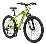 Mongoose Boys Mech Mountain Bicycle, 13'/One Size, Bright Green