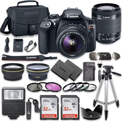 Canon-EOS-Rebel-T6-DSLR-Camera-Bundle-with-Canon-EF-S-18-55mm-f35-56-is-II-Lens-2pc-SanDisk-32GB-Memory-Cards-Premium-Accessory-Kit