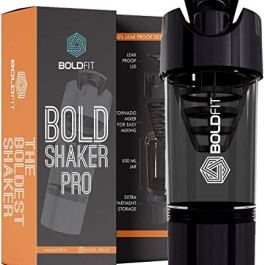 Boldfit Gym Shaker Pro Cyclone Shaker 500ml with Extra Compartment, 100% Leakproof Guarantee, Ideal for Protein…