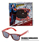 DC Comics Superman Foldable Kids Children Boys Sunglasses with 100% UV Protection UV Shielding Sunglasses Red