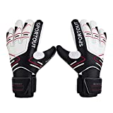 Youth&Adult Goalie Goalkeeper Gloves,Strong Grip for The Toughest Saves, with Finger Spines to Give Splendid Protection to Prevent Injuries 3 Colors(Size 8)