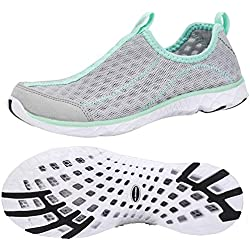ALEADER Tennis Shoes Womens Walking Shoes Fashion Sneakers Lt Grey/New Mint 6.5 B(M) US