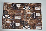 Mug Rugs 7x10 Inches 100% Cotton Flannel with cotton batting in the middle. Coffee Lovers
