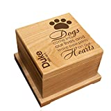 GiftsForYouNow Engraved Wooden Personalized Pet Memorial Urn for Dogs