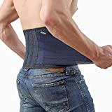 Back Support Lower Back Brace Provides Back Pain Relief - Breathable Lumbar Support Belt for Men and Women Keeps Your Spine Straight and Safe (Medium - 33''- 40' at Navel Level)