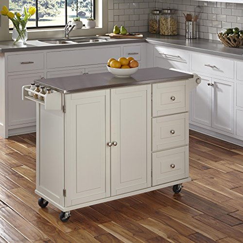 Home Styles 4512-95 Liberty Kitchen Cart with Stainless Steel Top